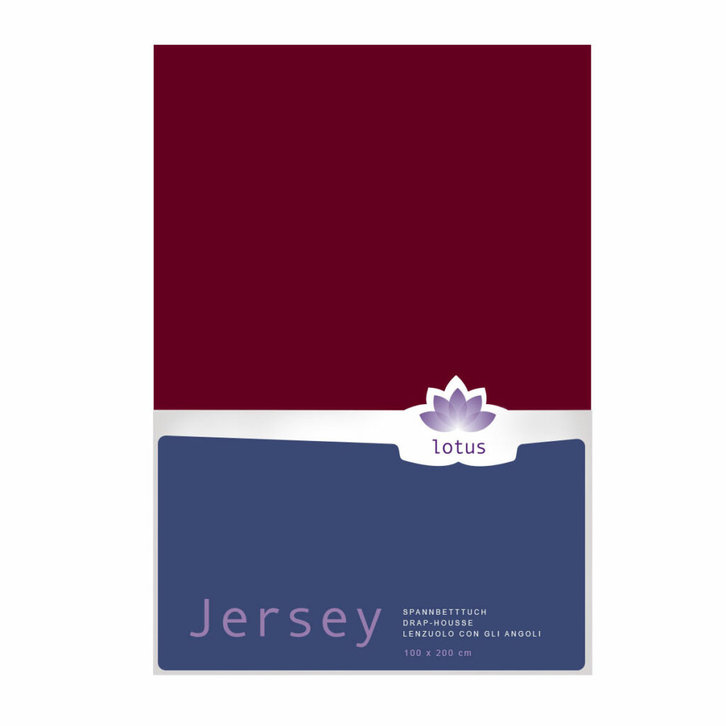 FIX JERSEY LOTUS COMFORT BORDEAUX